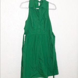 Anthropologie Kelly green pinafore dress sz 10